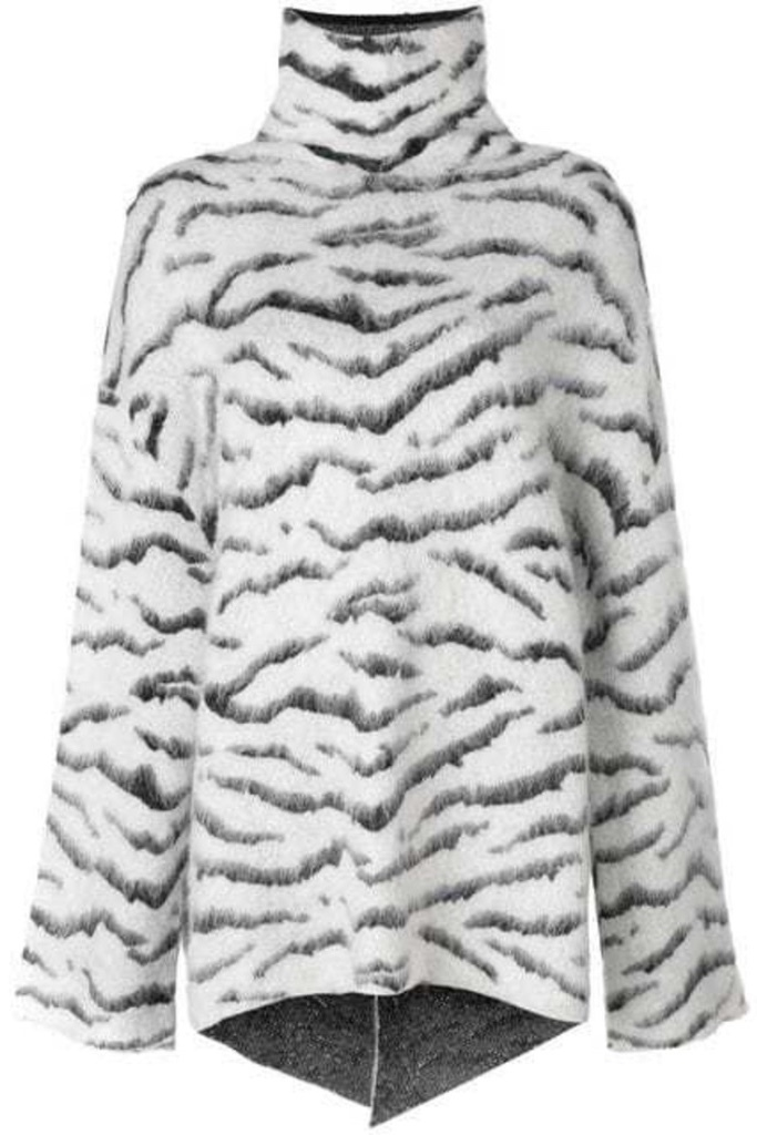 Givenchy Givenchy - Zebra Pattern Loose Sweater