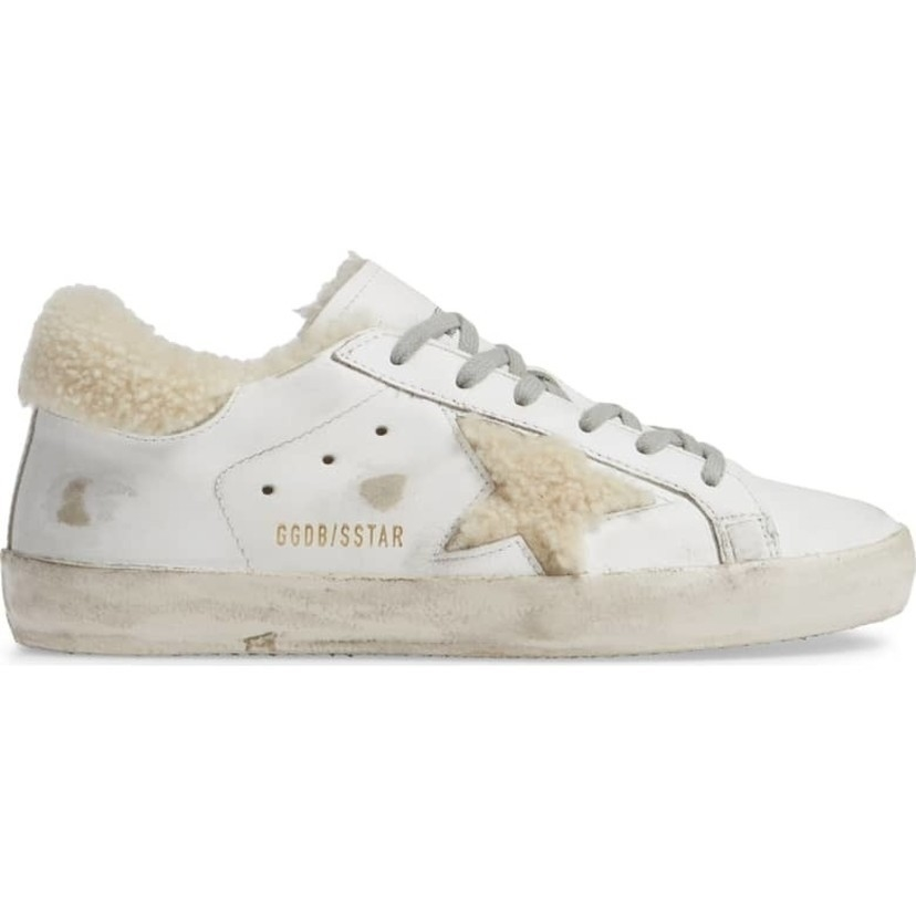 Golden Goose Deluxe Brand Sneakers Superstar - White & Shearling Sale Shoes