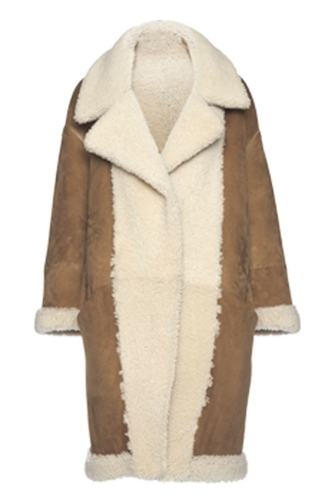 Arje Arje The Sol Reversible Shearling Coat Outerwear