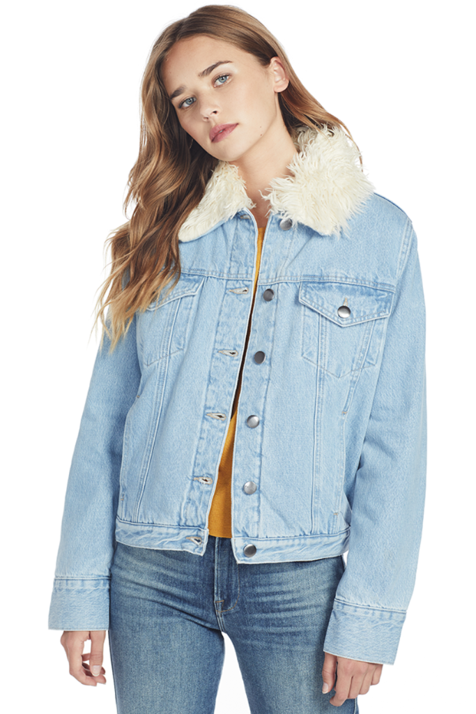 FRAME Le Curly Shearling Jacket Outerwear