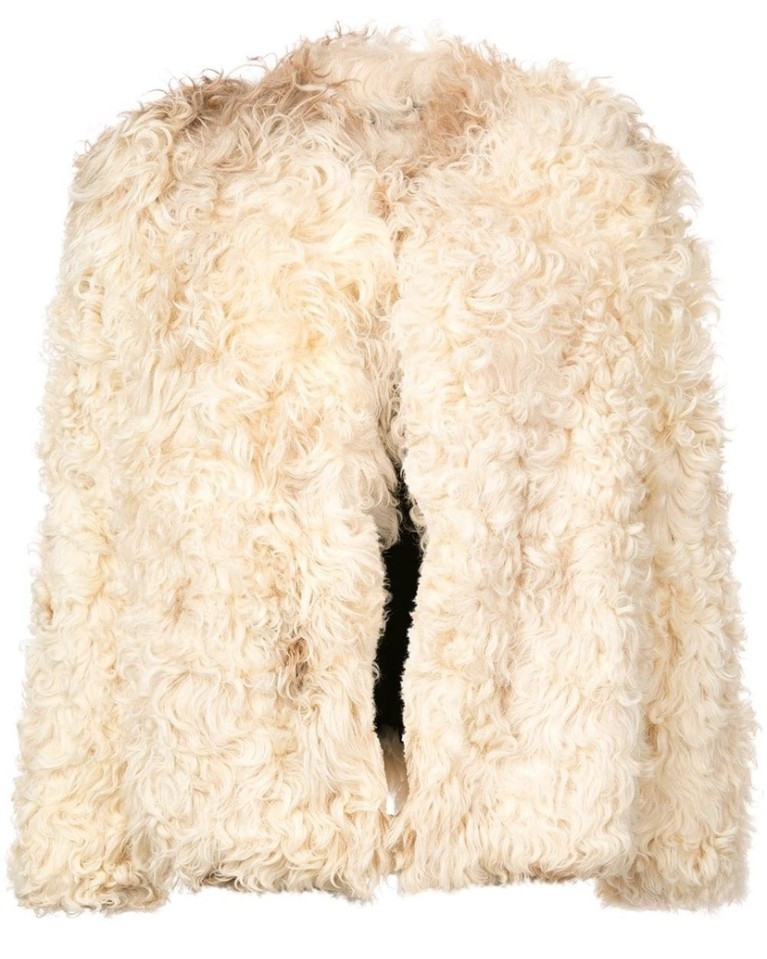 Saint Laurent Saint Laurent - Cream Shearling Jacket Outerwear