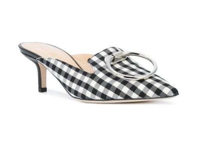 Monse Monse - Checked Pointed Mules Shoes