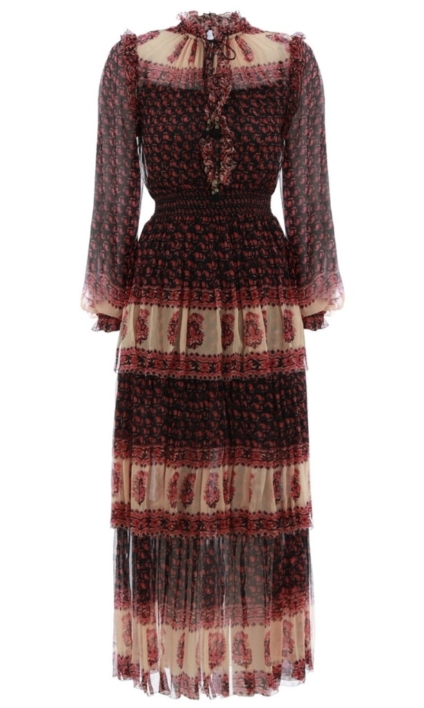 Zimmermann Jaya Stamp Layer Dress in Stamp Dresses