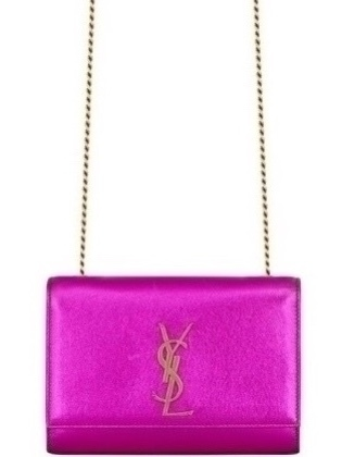 Saint Laurent Kate Chain Bag in Fuchsia Leather (Originally $1,850) Bags Gifts Sale