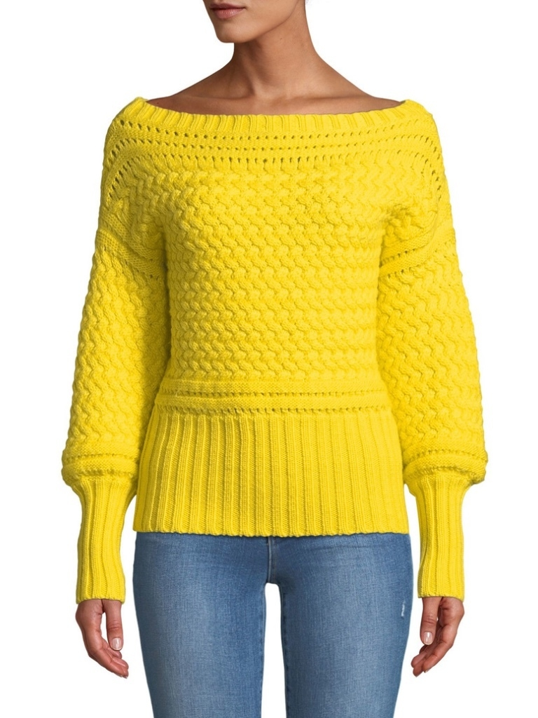 Tanya Taylor Marie Sweater - Yellow (Originally $425) Sale Tops