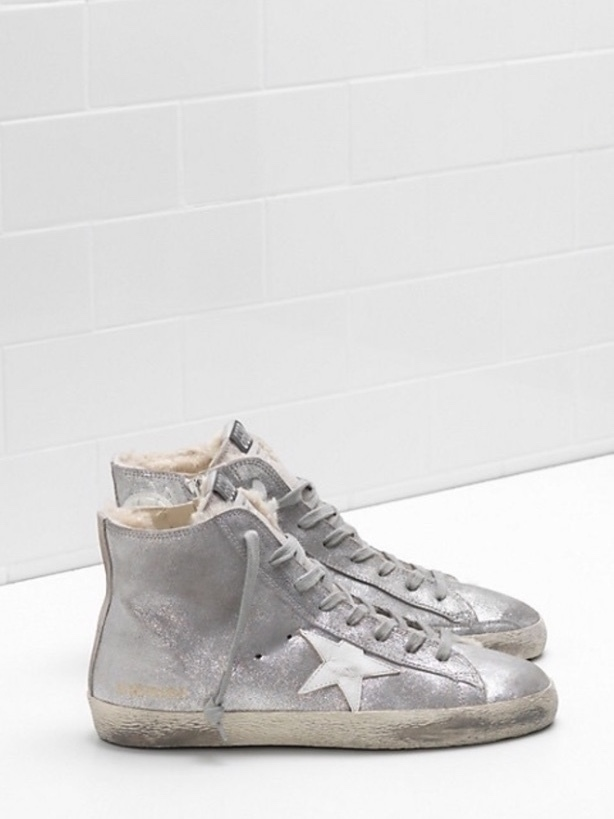 Golden Goose Deluxe Brand Golden Goose Metallic Hi-tops with fleece lining Shoes