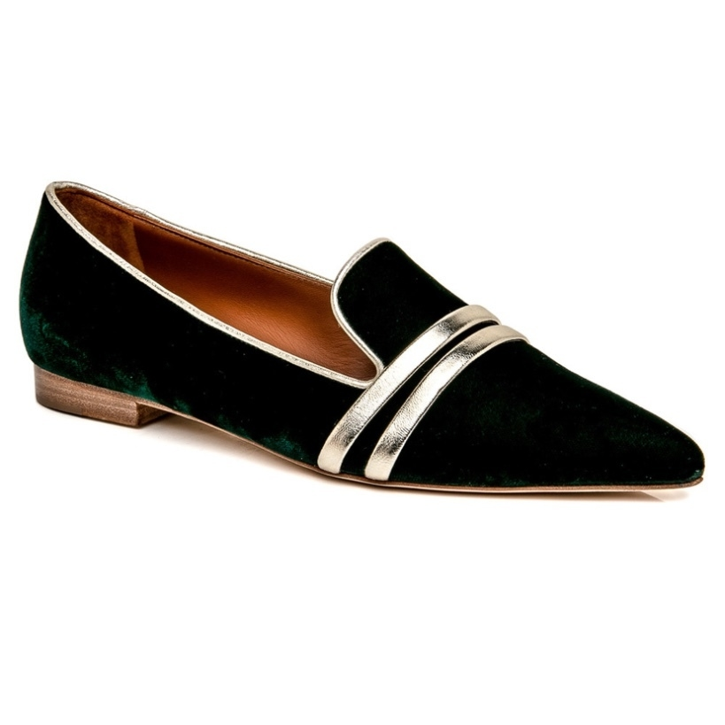 Malone Souliers Malone Souliers Forest Green Hermione Flat Shoes