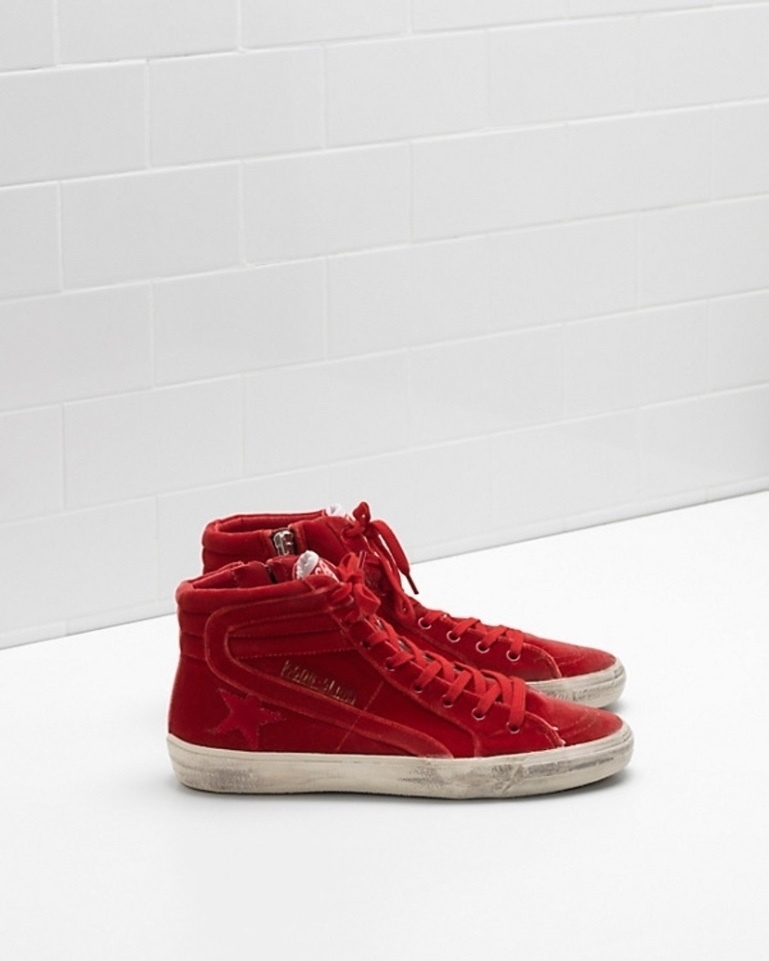 Golden Goose Deluxe Brand Golden Goose red velvet 'slides' Shoes