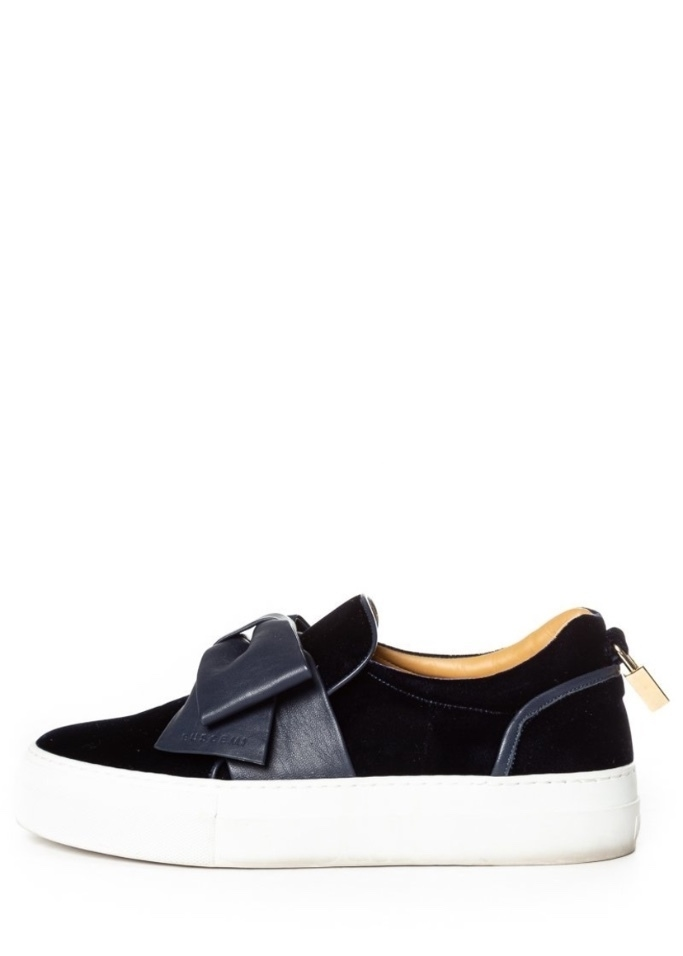 Buscemi Buscemi Navy Velvet Slip-On Sneakers 40 Shoes