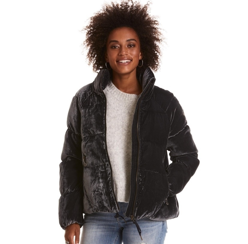 Embrace Velvet Puffy Coat