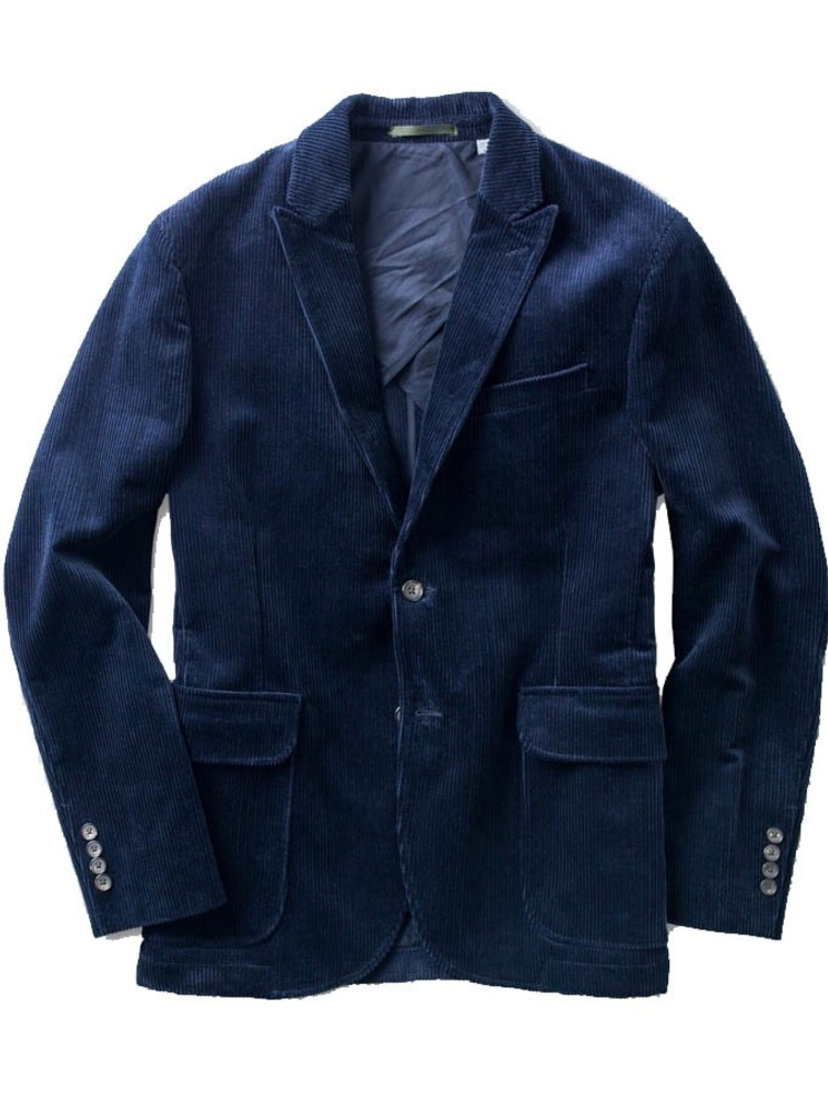 OOBE PEAK LAPEL CORDUROY BLAZER Men's Sale