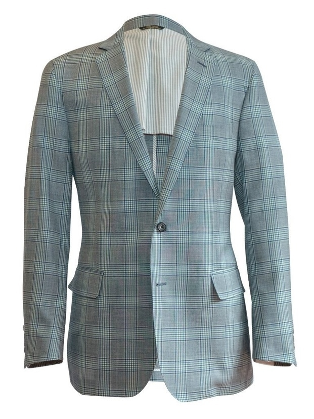 Ole Mason Jar The Grey Glen Plaid Sport Coat Men's