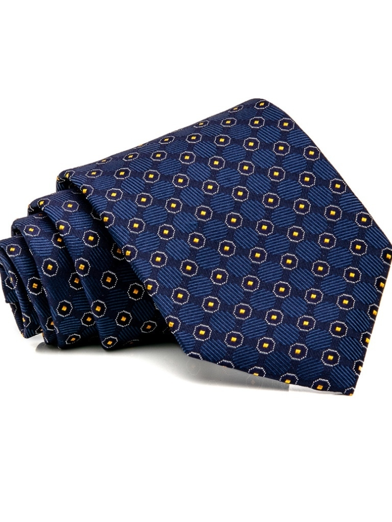 Eton Eton Navy and Orange Geometric T Men's