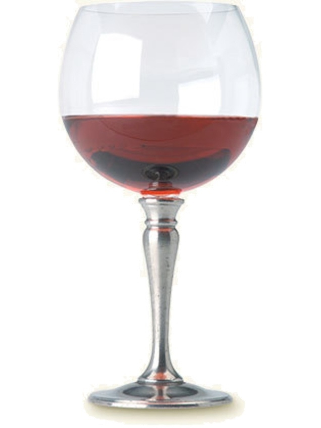 MATCH Pewter Balloon Wine Glass, Crystal