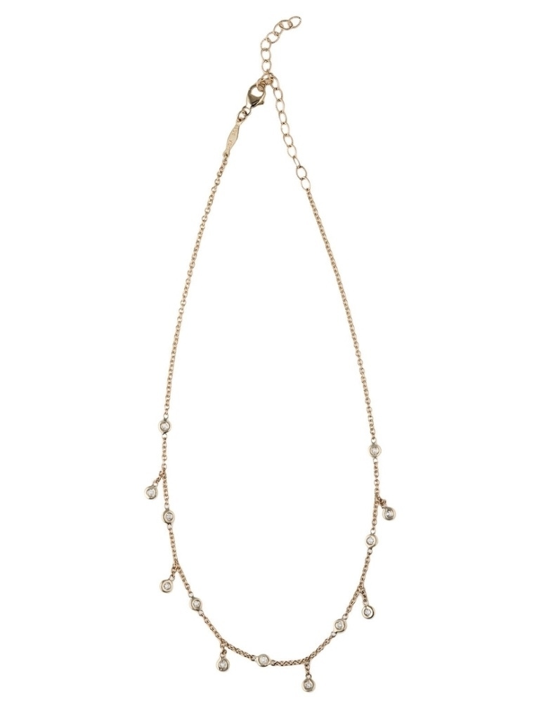 Jacquie Aiche Jacquie Aiche Spaced Out Diamond Shaker Choker Necklace - Yellow Gold Jewelry