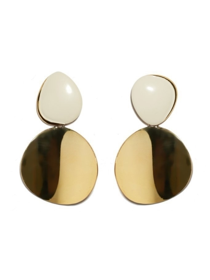 Lizzie Fortunato Painted Disco Earrings Jewelry
