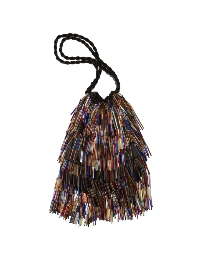 Lizzie Fortunato Gala Wristlet In Disco Fringe Accessories