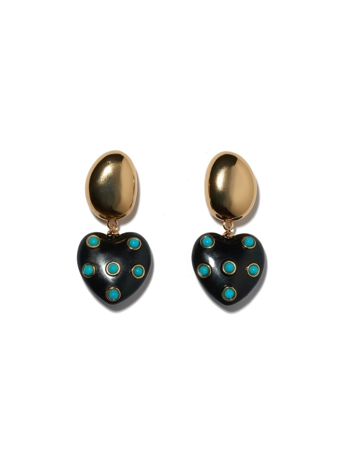 Lizzie Fortunato Amore Earrings In Turquoise Jewelry