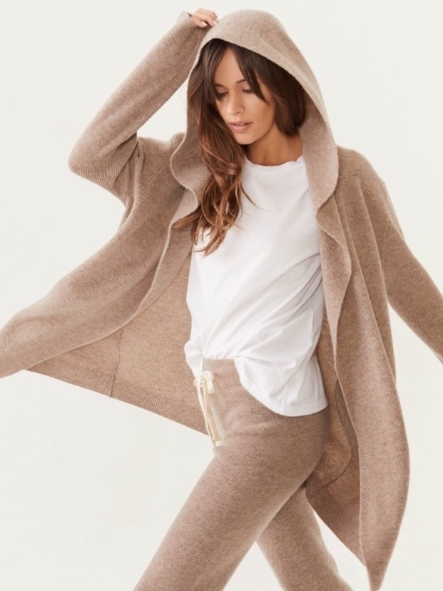 MONROW Monrow Hooded Cashmere Blend Sweater Tops