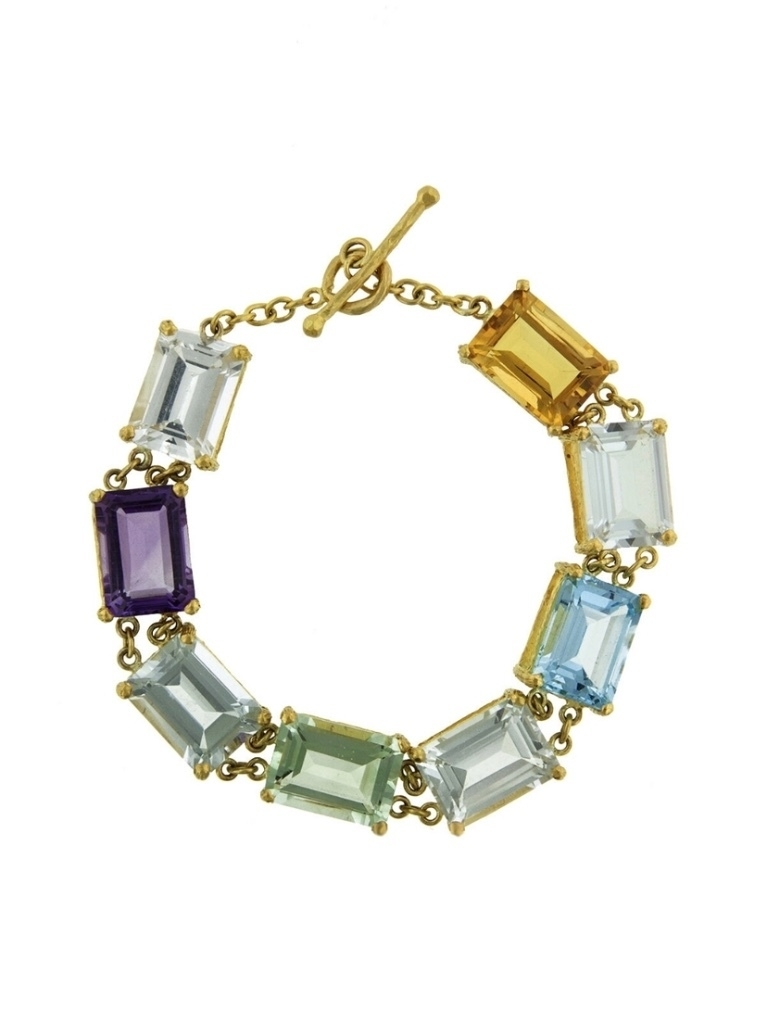 Cathy Waterman Cathy Waterman Amethyst, Citrine and Topaz Bracelet - Yellow Gold Jewelry