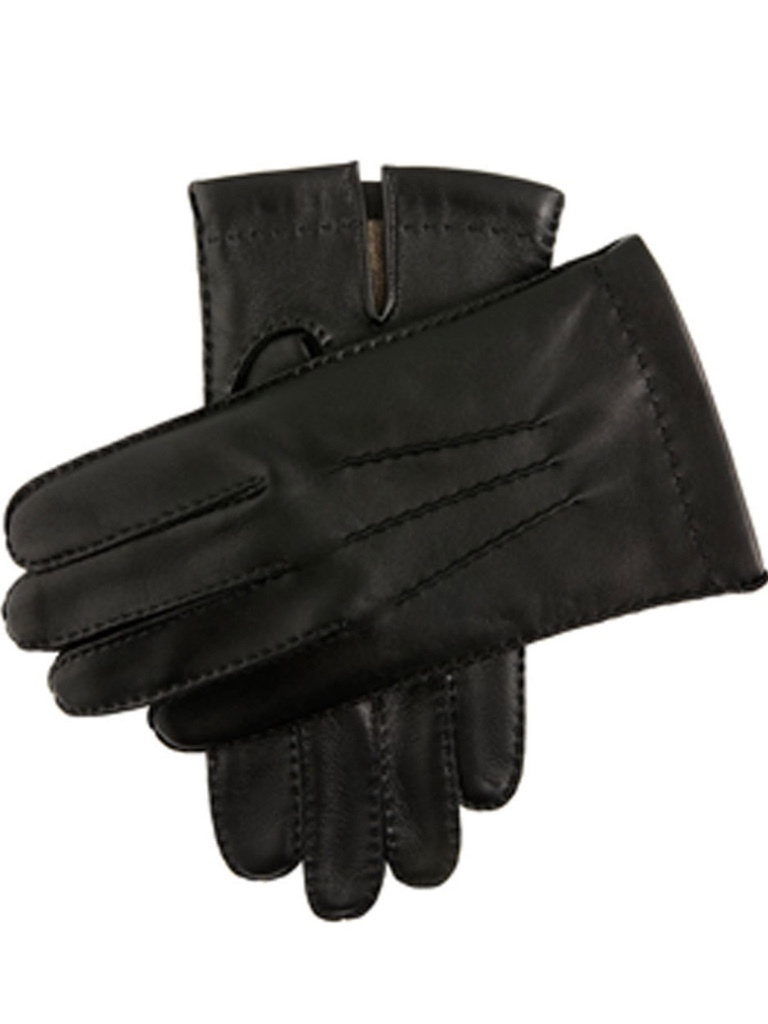 Dents Dents Black Cashmere Lined Touchscreen Leather Gloves Accessories