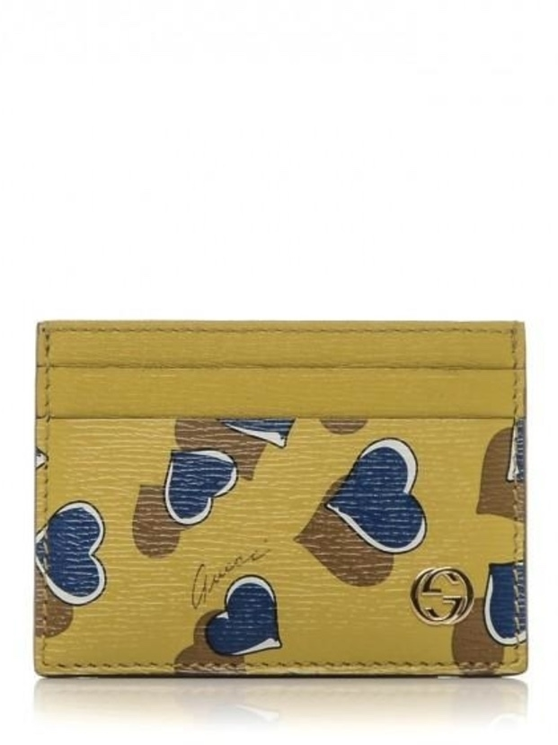 Gucci Gucci Heart Printed Interlocking GG Card Case Bags