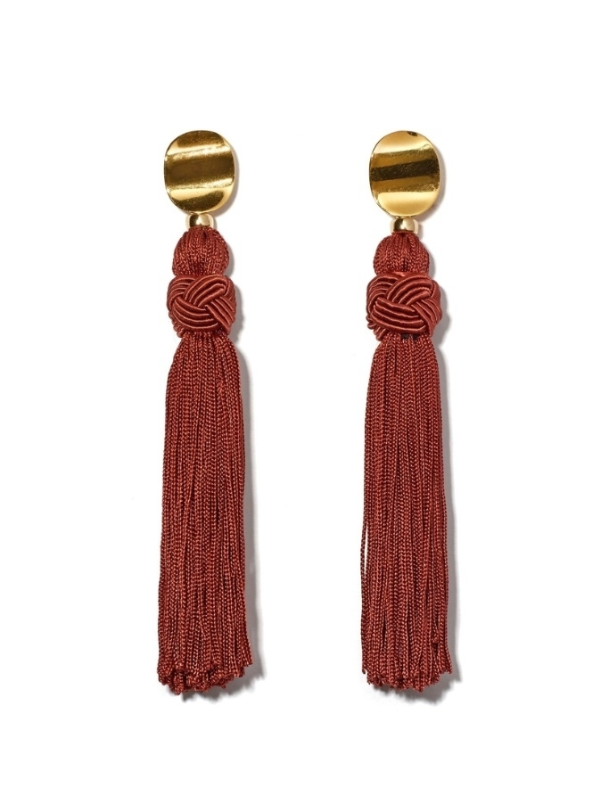 Lizzie Fortunato Sienna Luxe Tassel Earrings Jewelry