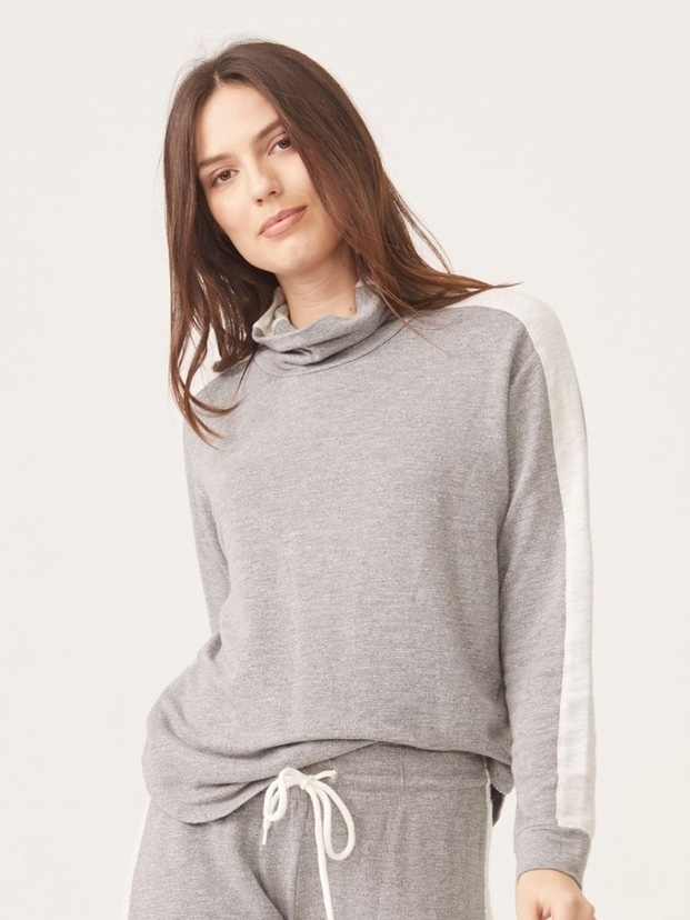 MONROW Monrow Supersoft Two Tone Turtleneck Tops