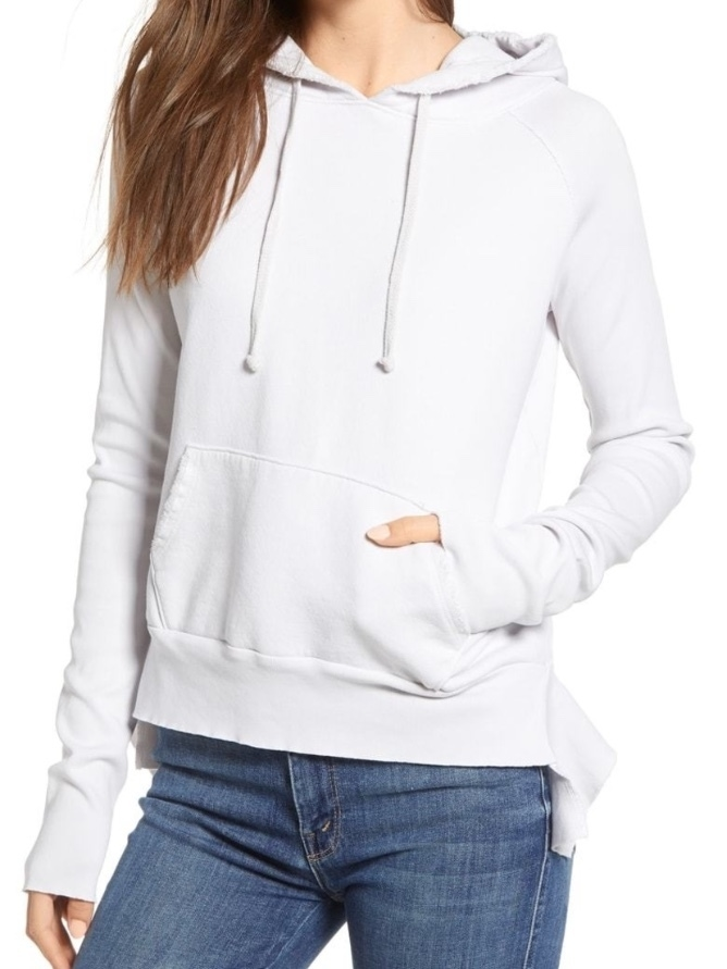 Frank & Eileen Tee Lab by Frank & Eileen Pullover Hoodie - Dirty White Tops