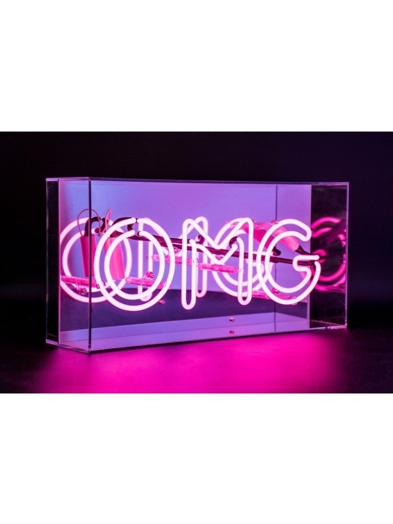 Locomocean Locomocean - 'OMG' Acrylic Box Neon Accessories Gifts