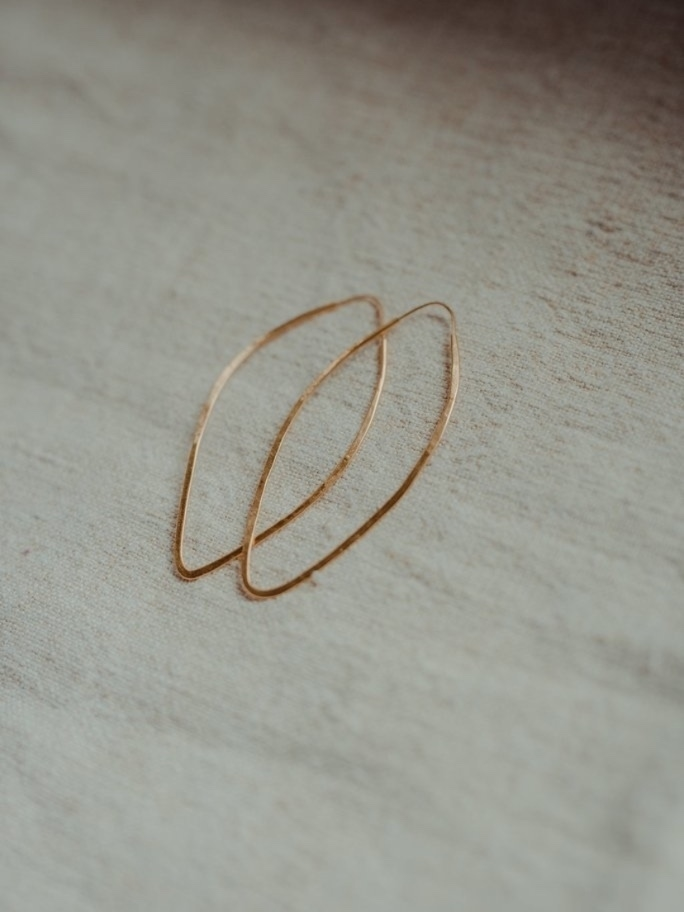Takara Large Pointed Hoops Jewelry