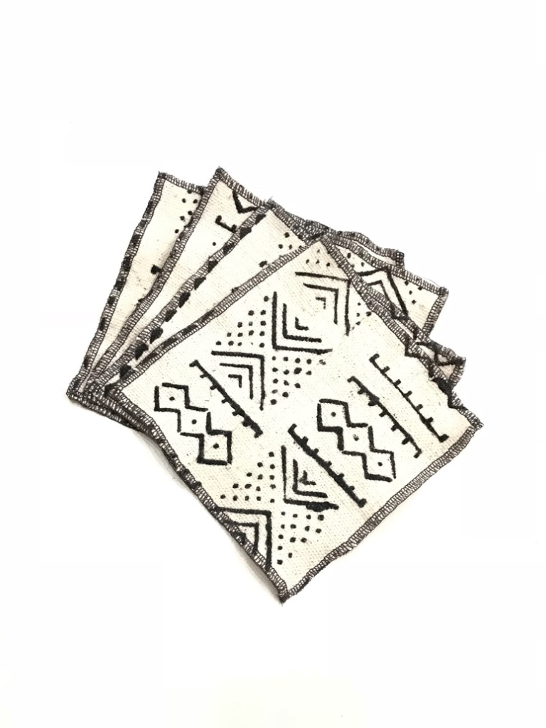 Twine + Twig Cocktail Napkin Set | White Tribal Home decor