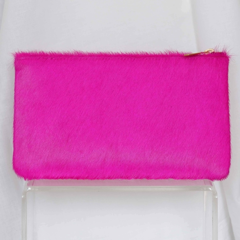 Allison Mitchell Zip Pouch in Fuchsia