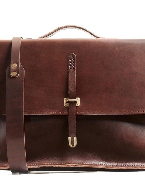 Billykirk SCHOOLBOY BRIEFCASE IN BROWN Men's Sale