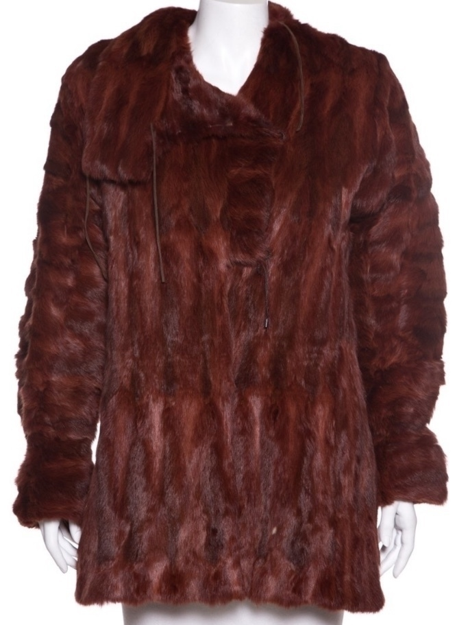 TBC Consignment Wine Fur Reverible Coat Outerwear
