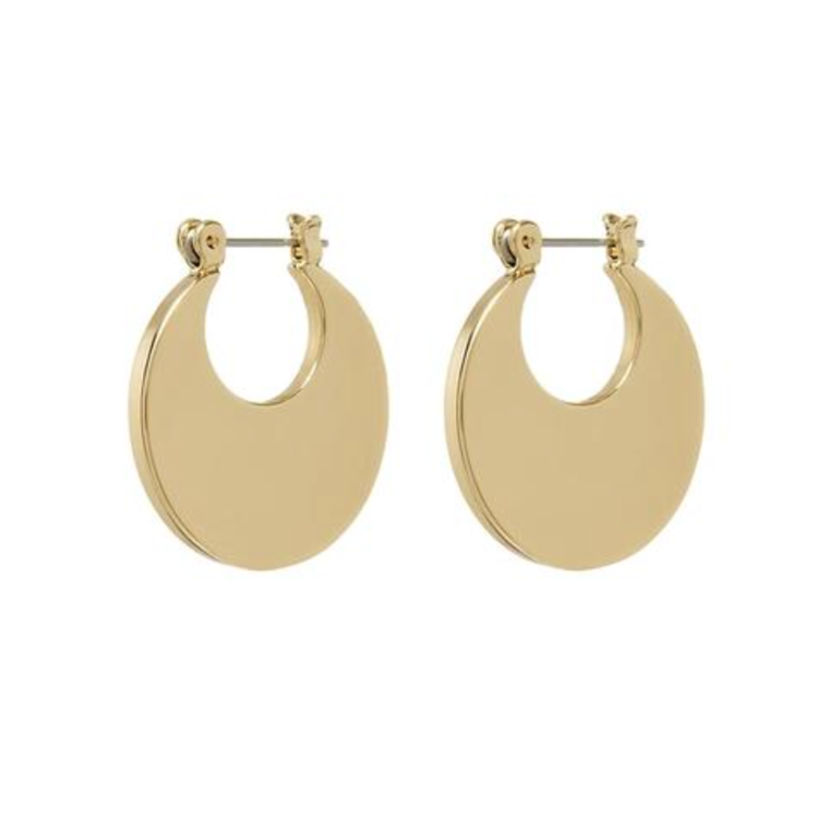 Luv  AJ Elliptical Mini Gold Hoops Jewelry