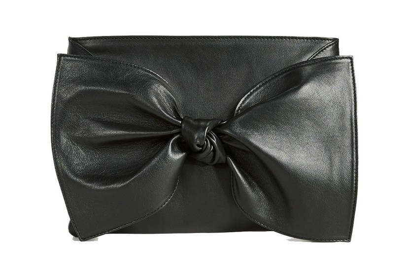Ulla Johnson Tali Bow Clutch in Black (Originally $495) Bags Gifts Sale