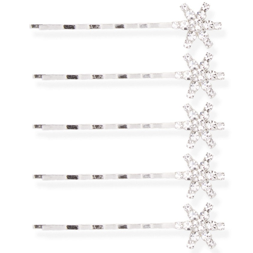 Jennifer Behr Galexia Bobby Pin Set in Crystal Accessories