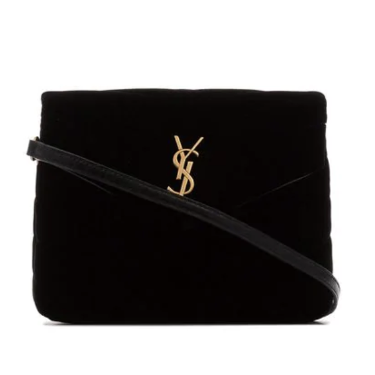 Saint Laurent Black Velvet Crossbody Bags Gifts