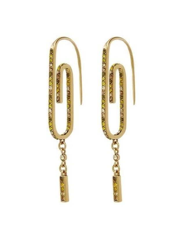 Luv AJ OMBRE PAPER CLIP EARRINGS- GOLD Jewelry