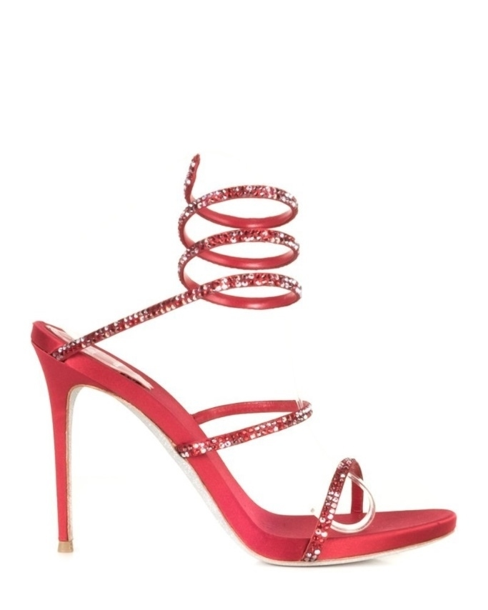 René Caovilla Rene Caovilla  Red Cleo Strass Heels 39 Shoes