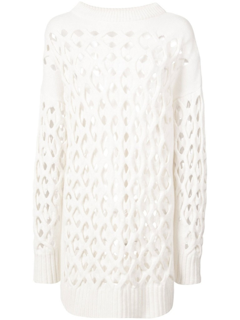 Oscar de la Renta Oscar de la Renta Fisherman Knit Sweater Tops
