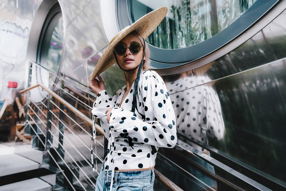 Polka dots aren't revolutionary, but they certainly revolve...
