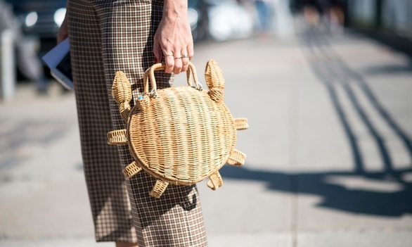 We are bringing our basket bags with us into fall...