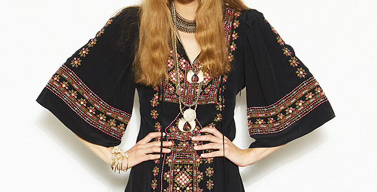 Big 3x large figue black louise embroidered dress