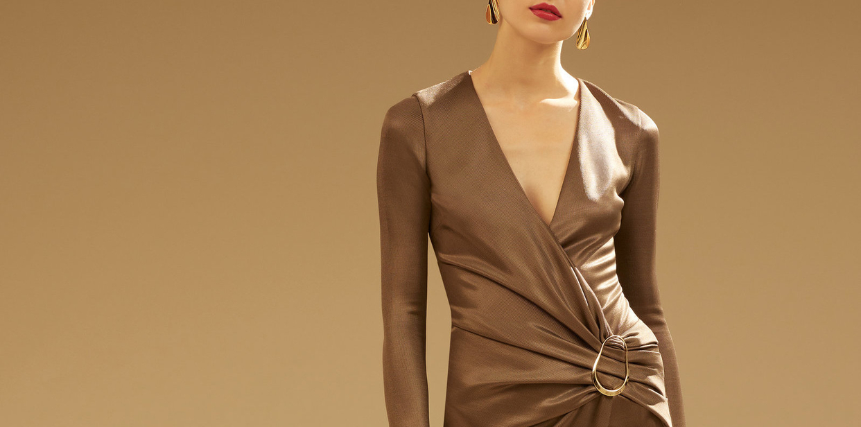 Big 3x large cushnie brown sahara wrap dress
