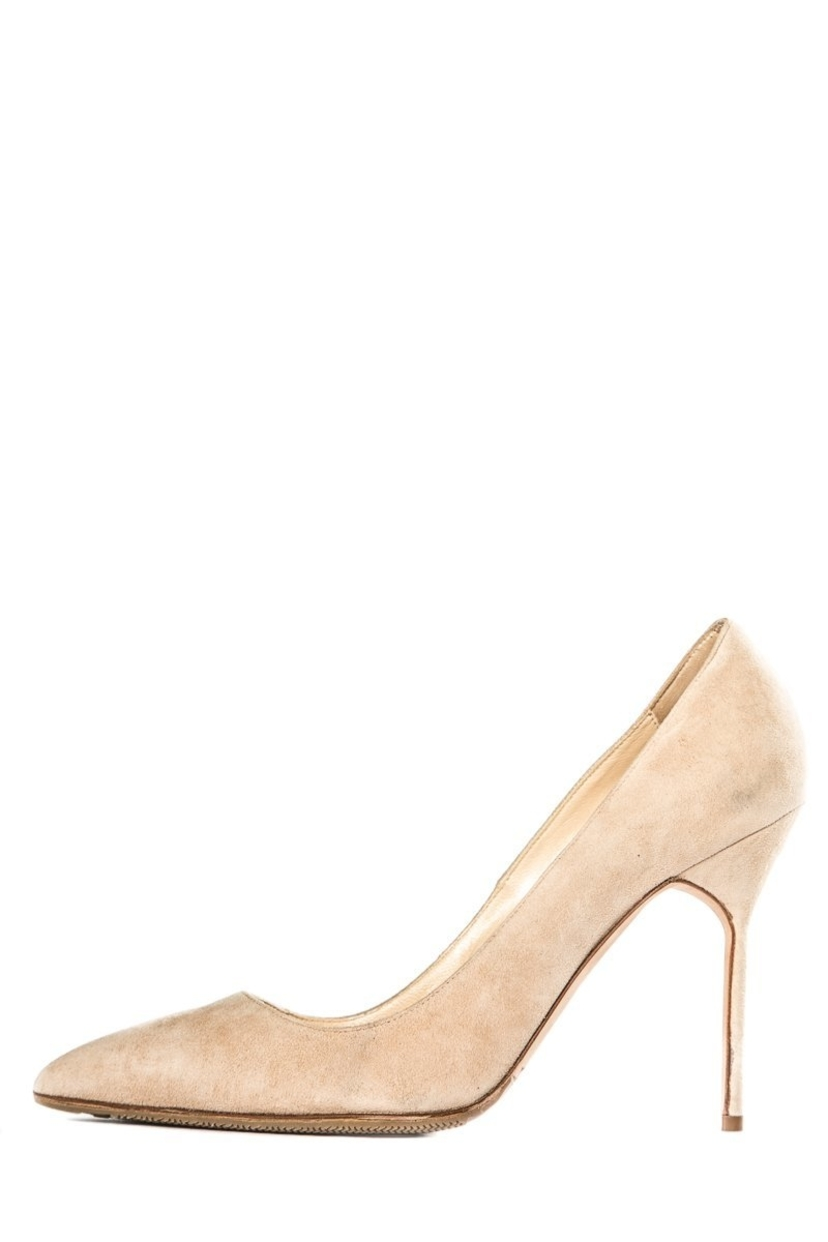 Manolo Blahnik Manolo Blahnik Beige Suede Pumps 37.5 Shoes