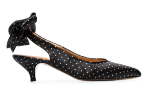 Ganni Sabine Tie Kitten Heel Shoes