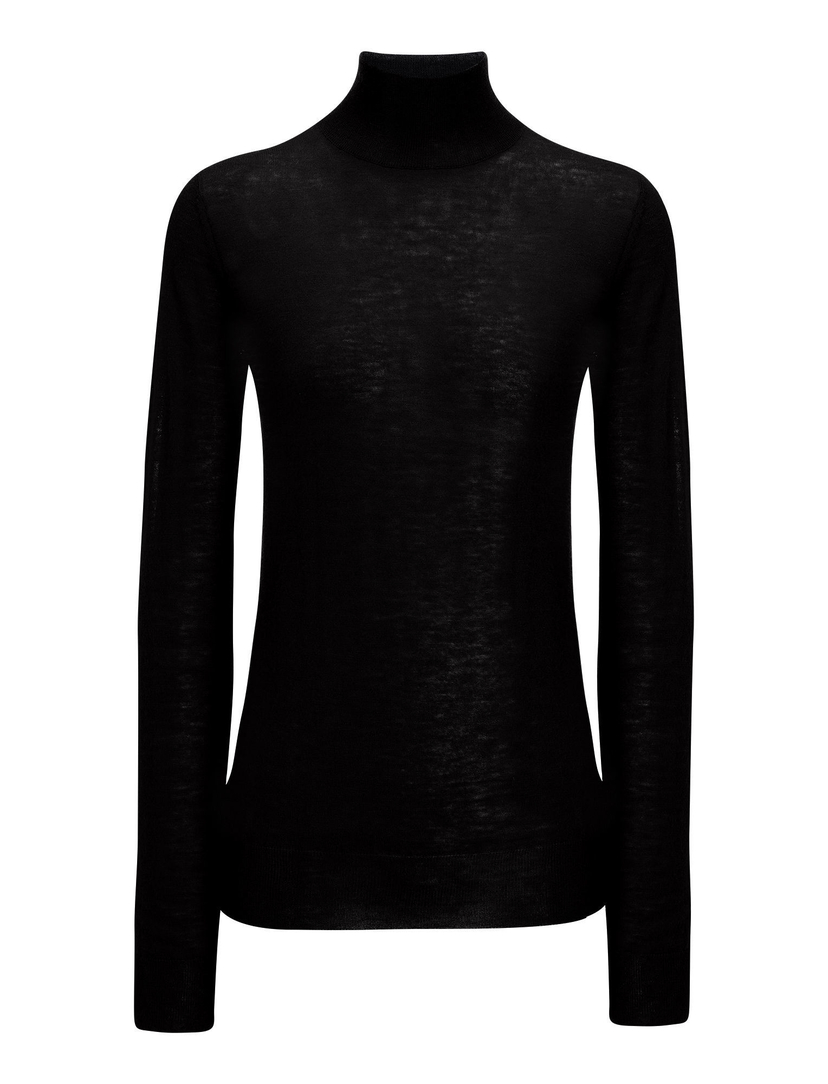 Joseph High Neck Cashair Knit - Black Sale Tops