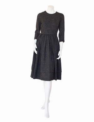 Aspesi Aspesi Charcoal Tweed Winter Dress Dresses